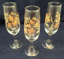 Vintage 1960s Overlaid Wine Glasses - Set Of Three