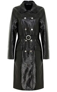 2016 ARCHIVE BY ALEXA CHUNG M&S Briggate Vinyl Trench Coat & Belt 12 Worn Once