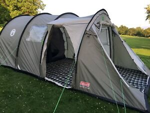 Coleman Coastline 6 Deluxe Tent with Carpet and Canopy