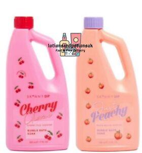 Skinny Dip CHERRY GLAZE and/or JUST PEACHY Bubble Bath Soak 500ml - 2 Pack