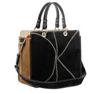 ORLA KIELY Suede OK Carrie Bag, Black BNWT RRP £440