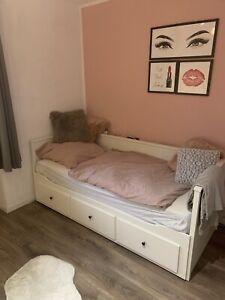 IKEA Hemnes Bett Tagesbettgestell 3 Schubladen, weiß, 80x200 cm, ausziehbar