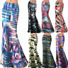 Summer Boho Hippie Women's Print High Waist Long Dress Beach Party Maxi Skirts