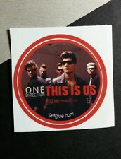 """ONE DIRECTION THIS IS US Red GROUP BAND PHOTO MUSIC 1.5"""" GET GLUE STICKER"""