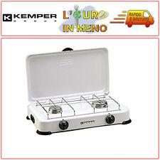 KEMPER FORNELLO A GAS 2 FUOCHI BRUCIATORI PROF. PER CAMPEGGIO 104981 FORNELLINO