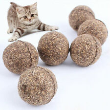 Nature Cat Mint Ball Pet Cat Kitten Play Ball Coated with Catnip Bell Toy 1PC