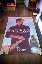 DIOR SAUVAGE JOHNNY DEPP 4x6 ft Bus Shelter Original Fashion Advertising Poster