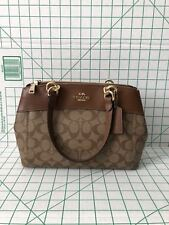 f48850491a40c Coach F26139 MINI BROOKE Signature Carryall Satchel Crossbody Bag Khaki  Saddle2