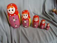 BABUSHKA WOODEN DOLL--5 dolls in 1