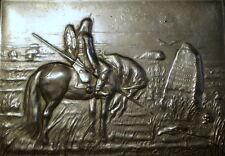 Vintage Russian Soviet Cigarette Case Holder Vasnetsov Knight Crossroad Horse
