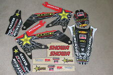 TEAM  ROCKSTAR  GRAPHICS AND NUMBER PLATE  BACKGROUNDS HONDA CR450R 05 06 07 08
