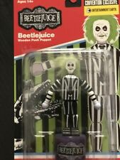 Beetlejuice Entertainment Earth SDCC Convention Exclusive Wooden Push Puppet