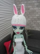 MONSTER HIGH HANDMADE CROCHET ANIMAL RABBIT BUNNY HAT FASHION STYLE CLOTHING