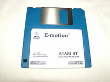 E-MOTION (1990) ATARI ST PC GAME 3.5 INCH ) FLOPPY DISC DISK ( NEAR MINT )
