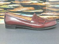 G.H. Bass Weejuns Horse Bit Kiltie Burgundy Loafer Shoes Womens Size US 10B