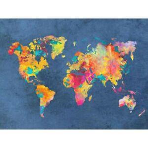 5D Full Drill Diamond Painting World Map Embroidery Cross Stitch Kits Art Mural
