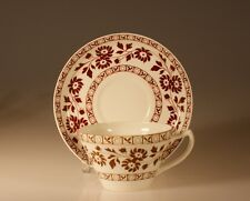 Wedgwood Early Brown Transferware Cup and Saucer, c. 1880's