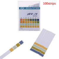 100Pcs 0-14 PH Test Strips Litmus Paper Universal Alkaline Acid IndicatorPaperIT