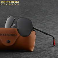 KEITHION Men's Retro Polarized Metal Sunglasses Glasses Driving Fishing Eyewear