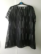 Oska Black Sheer Top New With Tags Klied Christie SS13 Size 3  UK 14 16 Long