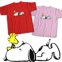 Peanuts Snoopy Woodstock Comics Cartoon Cute Mens Womens Kids Unisex Tee T-Shirt
