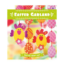 Kids Craft, Garland with Chicken, Fun Decorating, Easter Children Craft, DIY kit