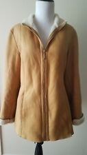 Hilary Radley Genuine Suede Leather Coat Size 4