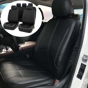 9x PU Leather Car Seat Covers Front Rear Full Set Fit For Interior Accessories