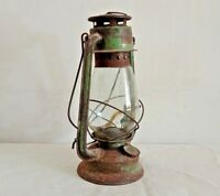 Vintage Antique Kerosene Lantern Oil Lamp Old Made In India Collectible L4