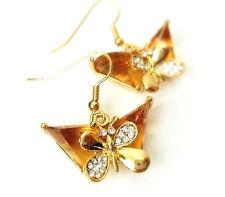 Swarovski Yellow Gold Plated Drop/Dangle Costume Earrings