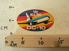 STICKER,DECAL KLM DC-10 AIRPLANE DC10 AIRLINES A