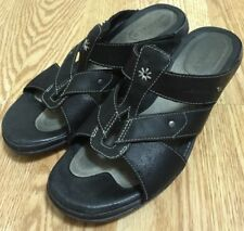 Merrell Luxe Slide Black Sandals Women's Size 7 Black Leather Shoes