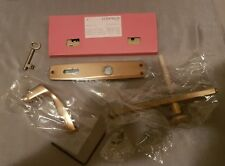 Hoppe Bronze Door Handle Set Complete W/Mortise Lock With 1 Key Nosib