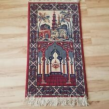 Vintage Muslim Mosque rug for praying or wall decor