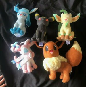 Pokemon Tomy plush soft Toys Including Eevee and Umbreon