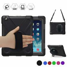 Heavy Duty Lifeproof Case for Ipad 2 3 4 With Handle Grip Shoulder Strap Stand