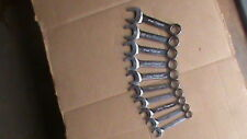 Snap on metric 10 pc midget combination wrench set flank drive 12 point 10-19mm