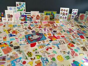 Vintage Stickers RANDOM LOT OF 12 Stickers Sandylion Lisa Frank Hallmark MIX VTG