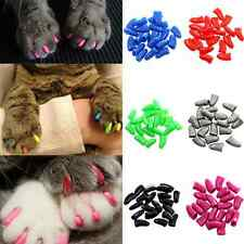 20PCS Soft Rubber Nail Caps For Puppy Dog Cat Paw Pet Claws 4 Sizes 7 Colors Hot
