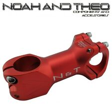 "N&T Bicycle 80mm Stem 28.6mm or 1-1/8"" to 31.8mm Cycling Road Handlebar MTB RED"