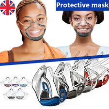 Durable Mask&Face Shield Visor Reusable Transparent Protection Lip Mask Anti-fog
