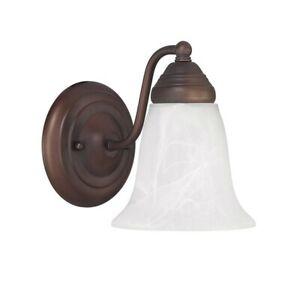 Capital Lighting 1 Light Sconce, Burnished Bronze - 1361BB-117