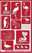 Armour Reusable Over n Over Glass Etching Stencil - Water Birds