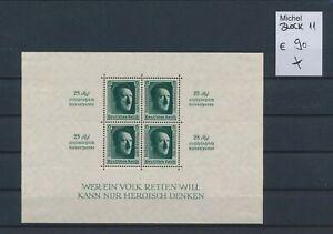 LO45010 Germany 1937 Reich Hitler's birthday good sheet MH cv 90 EUR