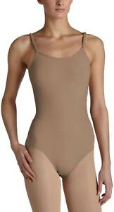 Girls Cotton Ballet Dancewear Gym Nude Tan Strap Low U Back Leotard Bodysuit