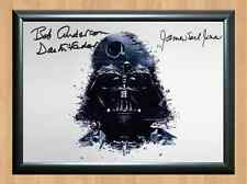 Darth Vader Bob Anderson James Earl Jones Signed Autographed A4 Photo Print star