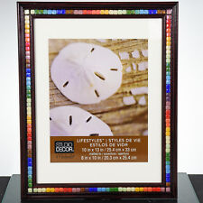 Handcrafted Picture Frame  Festive  Gift-Colorful Mini Tiled Wooden Frame