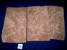 Nussbaum Maser Furnier Wurzelholz     260 x 150 mm    3 Blatt     Nr. 435