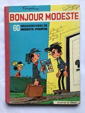 BD Bonjour Modeste - Modeste et Pompon T2 / EO 1959 / FRANQUIN / LOMBARD