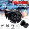 250dB Electric Bull Horn Air Horn Raging Sound 12V Loud Black For Car Truck